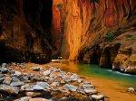 Sandstone Cliffs in Zion national park - Utah